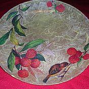 """Посуда ручной работы. Ярмарка Мастеров - ручная работа тарелка """"По ягодке"""". Handmade."""