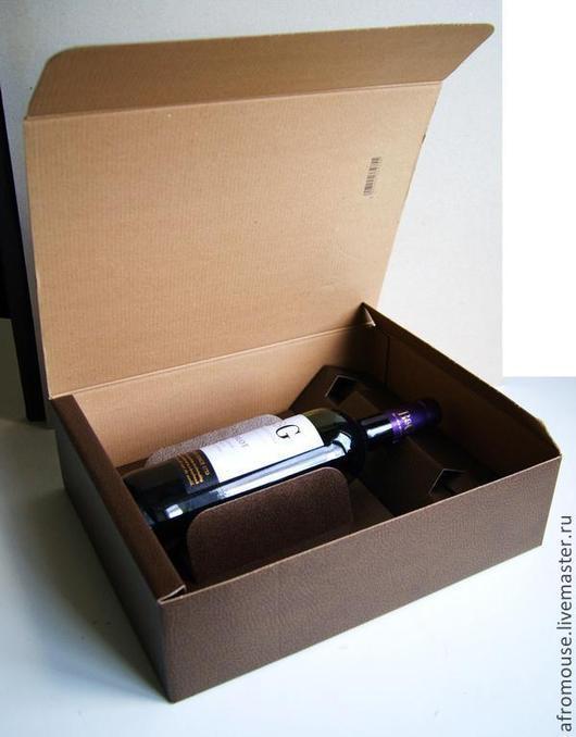 коробка `Итальянская кожа` 34х27х9 см  коричневая
