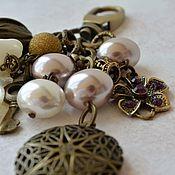 Сумки и аксессуары handmade. Livemaster - original item Keychain for keys, backpack or bag Romantic. Handmade.