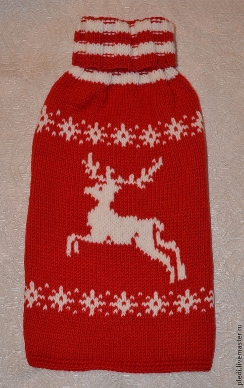 Одежда для собак, ручной работы. Ярмарка Мастеров - ручная работа. Купить Красная жилетка с оленем. Handmade. Ярко-красный, для собак