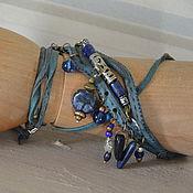Украшения handmade. Livemaster - original item necklace - bracelet - wrapped with semiprecious jeans. Handmade.