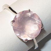 Украшения ручной работы. Ярмарка Мастеров - ручная работа Кольцо розовый кварц серебро. Handmade.