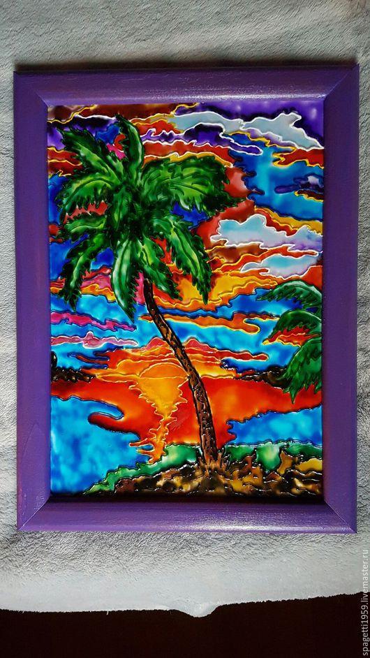 Интерьерные  маски ручной работы. Ярмарка Мастеров - ручная работа. Купить Жаркий закат на Самоа. Handmade. Комбинированный, подарок