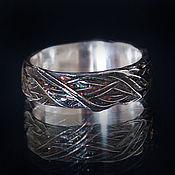 Украшения handmade. Livemaster - original item Ring Plexus of herbs with enamel. Handmade.