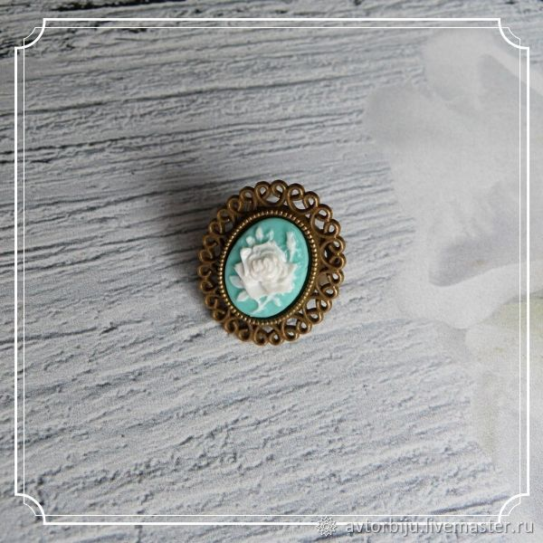 A ring with a cameo (rose), Rings, Smolensk,  Фото №1