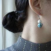 Украшения handmade. Livemaster - original item Sea Style Earrings, Marine Earrings, White and Blue. Handmade.
