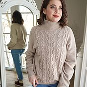 handmade. Livemaster - original item Verona beige wool sweater. Handmade.