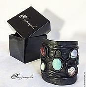 Украшения handmade. Livemaster - original item Bracelet made of leather and stones Byzantium. Handmade.