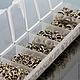 Колечки соединительные разрезные от 3 мм до 8 мм в пластиковом боксе для сборки украшений \r\nЦвет покрытия под черненое серебро или никель