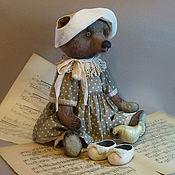 """Куклы и игрушки ручной работы. Ярмарка Мастеров - ручная работа Медведь Тедди """"Тата в белой панаме"""". Handmade."""