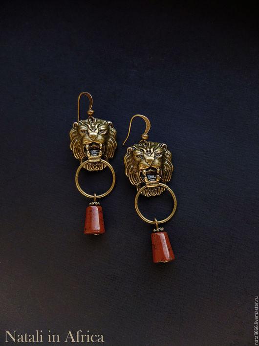 """Серьги ручной работы. Ярмарка Мастеров - ручная работа. Купить Серьги """"Легенды старого замка"""" с красной яшмой. Handmade."""