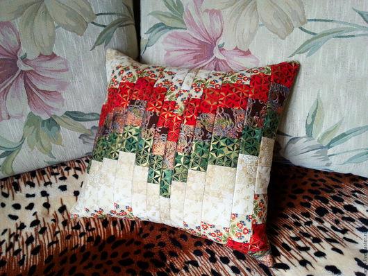 """Текстиль, ковры ручной работы. Ярмарка Мастеров - ручная работа. Купить Лоскутная подушка """"Ты в моем сердце"""". Handmade. подушка"""