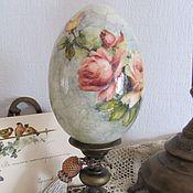 Подарки к праздникам ручной работы. Ярмарка Мастеров - ручная работа Яйцо пасхальное интерьерное высокое, декупаж. Handmade.