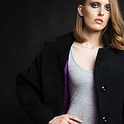 Одежда ручной работы. Ярмарка Мастеров - ручная работа SS2017 Черное пальто-кокон. Handmade.
