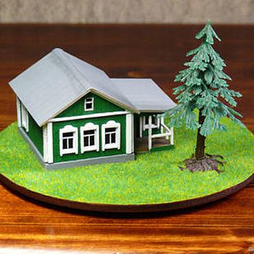 Сувениры и подарки ручной работы. Ярмарка Мастеров - ручная работа Макет – мини домик с ландшафтом. Handmade.