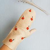 Аксессуары handmade. Livemaster - original item Felted mittens. Handmade.