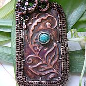 "Украшения handmade. Livemaster - original item Copper wire wrapped brooch ""Blossoming fern"". Handmade."