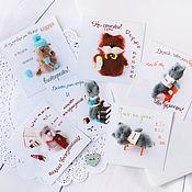 Cards handmade. Livemaster - original item A set of author cards. 6 Grand. 10h10 cm art. 001. Handmade.