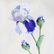 Цветы и флористика ручной работы. Ярмарка Мастеров - ручная работа Ирис. Handmade.