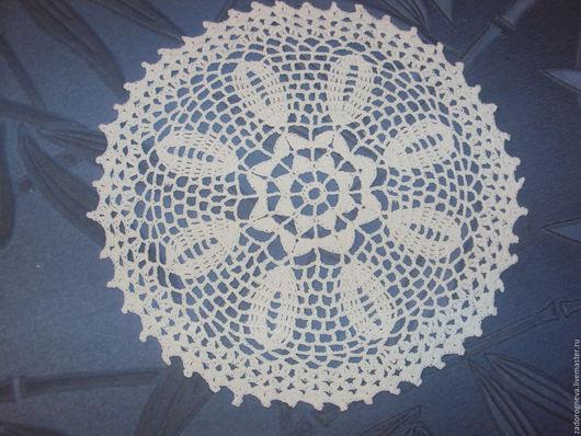 Текстиль, ковры ручной работы. Ярмарка Мастеров - ручная работа. Купить Салфетка 19. Handmade. Белый, Вязание крючком