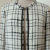 Одежда ручной работы. Ярмарка Мастеров - ручная работа 347: Женский жакет, женский пиджак из ткани шанель. Handmade.