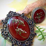 Украшения handmade. Livemaster - original item Brooch from the collection of the color Marsala. brooch natural jewelry. Handmade.