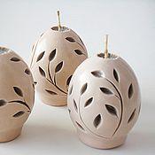 Подарки к праздникам ручной работы. Ярмарка Мастеров - ручная работа Резные свечи Яйцо - пасхальные свечи - пасхальный сувенир. Handmade.