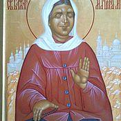 Картины и панно handmade. Livemaster - original item Icon of St. blessed Matrona of Moscow. Handmade.
