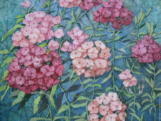 Картины цветов ручной работы. Ярмарка Мастеров - ручная работа. Купить Дачный сад.. Handmade. Комбинированный, лето, цветы, акварель