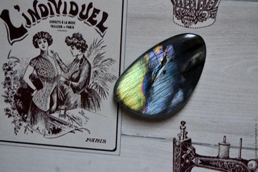 Для украшений ручной работы. Ярмарка Мастеров - ручная работа. Купить Лабрадорит спектролит. Кабошон 48 Х 29 Х 7. Handmade.