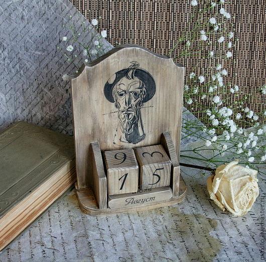 Календари ручной работы. Ярмарка Мастеров - ручная работа. Купить Рыцарь печального образа. Handmade. Календарь, дерево