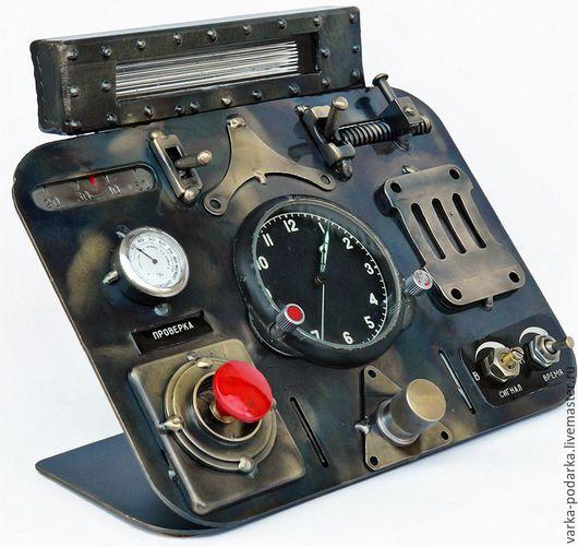 Часы для дома ручной работы. Ярмарка Мастеров - ручная работа. Купить Часы механика-водителя. Handmade. Комбинированный, механик, латунь