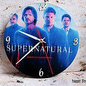 Для дома и интерьера handmade. Livemaster - original item Wall clock Supernatural supernatural Dean Sam Winchester. Handmade.