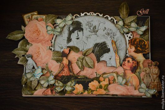 """Открытки для женщин, ручной работы. Ярмарка Мастеров - ручная работа. Купить Открытка """"Мисс элегантность"""". Handmade. Бледно-розовый, graphic45"""