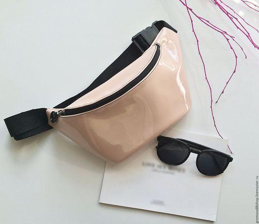 Женские сумки ручной работы. Ярмарка Мастеров - ручная работа. Купить Розовая поясная сумка , бананка из экокожи. Handmade.