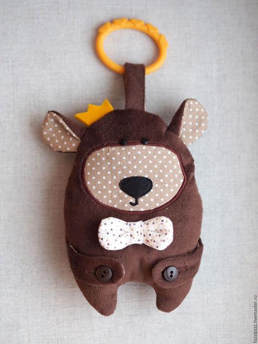 """Развивающие игрушки ручной работы. Ярмарка Мастеров - ручная работа. Купить Сенсорная игрушка """"Бурый Мишка"""". Handmade. Мишка, развивашка"""