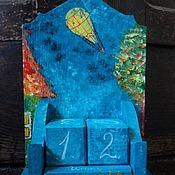 """Для дома и интерьера ручной работы. Ярмарка Мастеров - ручная работа Вечный календарь """"Полет"""". Handmade."""