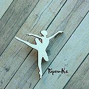 Украшения ручной работы. Ярмарка Мастеров - ручная работа Брошка деревянная Балерина. Handmade.