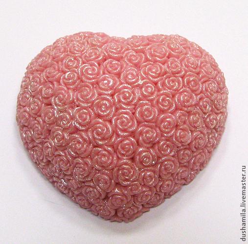 Мыло ручной работы. Ярмарка Мастеров - ручная работа. Купить Мыло Сердце из роз. Handmade. Мыло, сердце из роз