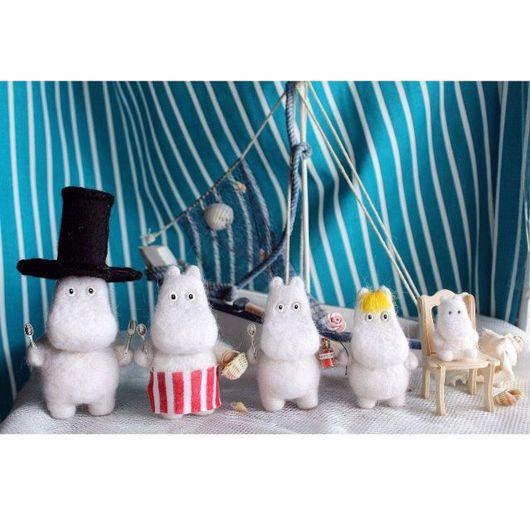 Сказочные персонажи ручной работы. Ярмарка Мастеров - ручная работа. Купить Муми-Тролли семейка (валяные игрушки). Handmade.