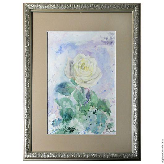 """Картины цветов ручной работы. Ярмарка Мастеров - ручная работа. Купить Картина """"Роза"""". Handmade. Роза, белая роза, картины"""