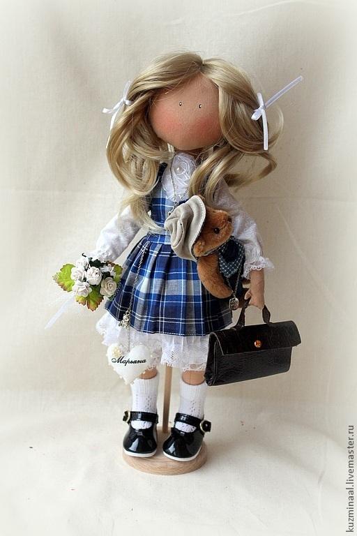 Человечки ручной работы. Ярмарка Мастеров - ручная работа. Купить Текстильная кукла. Handmade. Синий, текстильная кукла, подарок девочке