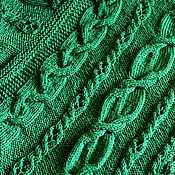 Одежда handmade. Livemaster - original item Knitted poncho Emerald for Maria.. Handmade.