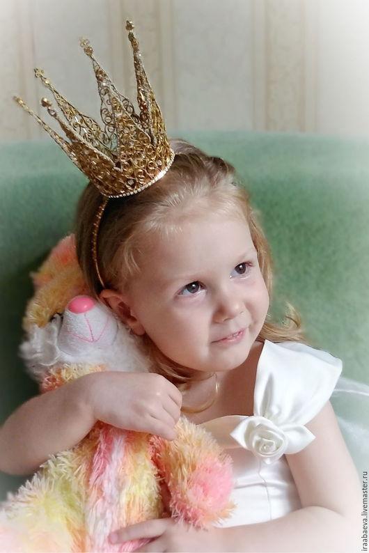 Детская бижутерия ручной работы. Ярмарка Мастеров - ручная работа. Купить Корона Золотко. Handmade. Золотой, корона для девочки, корона