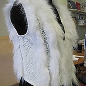 Одежда ручной работы. Ярмарка Мастеров - ручная работа Жилет тканый с мехом ЖТ 069м. Handmade.
