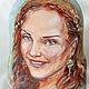 """Люди, ручной работы. Ярмарка Мастеров - ручная работа. Купить портретная матрешка на заказ """"Рыжая красавица"""". Handmade. Портрет"""