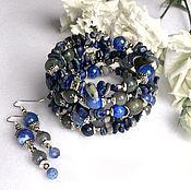 Украшения handmade. Livemaster - original item Bracelet made of sodalite, labradorite and agate