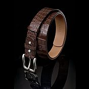 Аксессуары handmade. Livemaster - original item Leather belly crocodile, precious gift a man. Handmade.