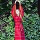 Платья ручной работы. Ярмарка Мастеров - ручная работа. Купить Русское платье счастливой славянки Купеческая. Handmade. Бордовый