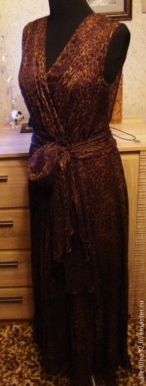 """Платья ручной работы. Ярмарка Мастеров - ручная работа. Купить Платье """"Сафари"""". Handmade. Коричневый, длинное платье в пол"""
